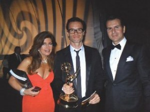 Guy Pearce with last year's Emmy Star Of Lockout