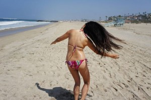 Windy at the beach