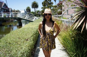 Out in my sundress at in Venice
