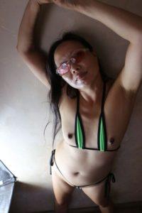 Green bikini 7